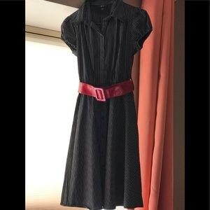 BCX Pinstriped black dress